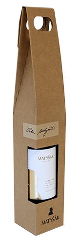 Darčeková ľahko prenosná kartónová krabica na 1 fľašu