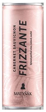 Frizzante ružové v plechovke