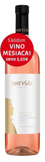 Cabernet Sauvignon rosé 2017 suché 🏆
